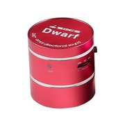 魅动e族 Dwarf-5神奇小矮人迷你插卡音响 共振音响 内置锂电池 电脑音响 红色