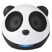 魔杰 Q35 迷你熊猫SD卡插卡充电音响 卡通小音箱 苹果 手机 平板电脑 音频连接线通用 黑白色