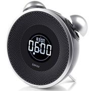 漫步者 M0 pro 2.0声道 便携插卡智能时钟音箱 黑色