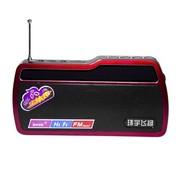 环宇飞扬 F260 遥控数字点歌TF卡、U盘、FM收音 便捷插卡音箱中国红