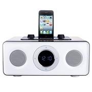 魔杰 R60苹果正版授权支持iPod/iPhone手机播放及充电的 2.1音箱橡木色陶瓷白面板