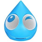 魔杰 Q1 卡通水滴 便携迷你小音箱 电脑音响 苹果 手机 平板电脑 音频连接线通用 蓝色