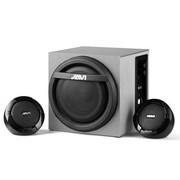 爵崴 音箱 H301 木质2.1声道无螺钉高精密嵌套技术低频传导保真传送 银色