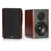爵崴 音箱 V201 木质2.0声道准入门级HI-FI品质 低频传导保真传送技术 红棕木色