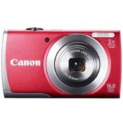 佳能 A2600 数码相机 红色(1600万像素 3英寸液晶屏 5倍光学变焦 28mm广角)
