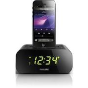 飞利浦 AJ3275D iPhone5/iPod专用音乐充电基座家用音响 时钟收音机 黑色