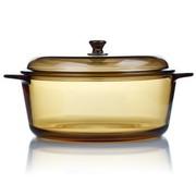 其他 法国进口弓箭乐美雅琥珀圆形玻璃锅3.5L
