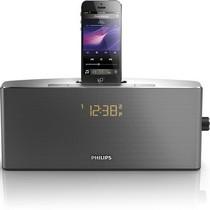 飞利浦 AJ7245D/93 iPhone5/iPod专用音乐充电基座家用音响 时钟收音机 黑色产品图片主图