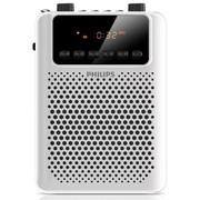 飞利浦 SBM150WHI/93 广场级音效 扩音插卡音响 FM收音机 REC录音 内置可充电电池 白色