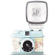 乐魔 LOMO Diana Mini 迷你戴安娜 胶片相机 (粉蓝色经纬地图)