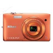 尼康 S3500 数码相机 橙色(2005万像素 2.7英寸屏 7倍光学变焦 26mm广角)