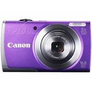 佳能 A3500 IS 数码相机 紫色(1600万像素 3英寸液晶屏 5倍光学变焦 28mm广角 WiFi传输)