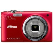 尼康 S2700 数码相机 红色(1602万像素 2.7英寸液晶屏 6倍光学变焦 26mm广角)