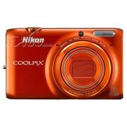 尼康 S6500 数码相机 橙色(1602万像素 3英寸液晶屏 12倍光学变焦 25mm广角)