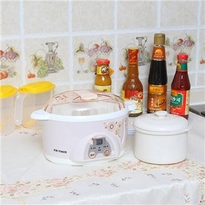 天际 DDZ-10KD 微电脑电炖盅 隔水炖盅 1升 300W 隔水炖煮营养更美味(粉色)产品图片2