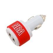NBA {}专业车载充电器 双USB输出 3插头 2100毫安 红色