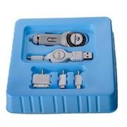 其它 CHEMAS车载USB充电器 伸缩线 车载电源适用于IPhone三星 乳白