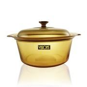 康宁 锅 晶彩透明锅 汤锅 炖锅 玻璃锅 蒸锅 烹饪锅具 直烧锅 3.5L VSD-3.5