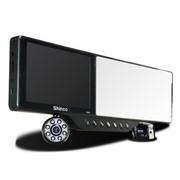 新科 DM81广角行车记录仪测速带蓝牙耳机倒后镜摄像头 高清夜视套机