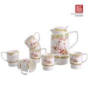 顺祥 陶瓷 骨玉瓷 陶瓷咖啡套装 7件套 玉兰韵416597