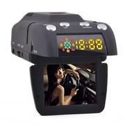 征服眼 WZ6  行车记录仪和流动固定测速电子狗一体机 官方配置+外置32G卡
