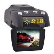 征服眼 自由风J20 行车记录仪和流动固定测速电子狗一体机 官方配置+外置8G卡