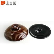 其他 日本原产陶锅 日本正品万古烧菊花土锅 飴釉5合双盖汤锅 炖锅(直径20.4mm)产品图片主图