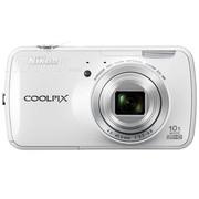 尼康 S800c 数码相机 白色(1602万像素 3.5英寸液晶触屏 10倍光学变焦 25mm广角)