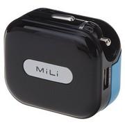 MiLi HC-U20 Universal Charger 1A车充+AC座充二合一多功能充电器 黑色