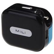 MiLi HC-U20-1  2.1AUniversal Charger 车充/车载+AC座充多功能充电器 黑色