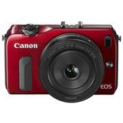 佳能 EOS M套机(EF-M 18-55mm,EF-M 22mm,90EX闪光灯) 红色