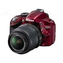 尼康 D3200 单反相机套机(AF-S DX 18-55mm f/3.5-5.6G VR尼克尔镜头) 红色产品图片主图