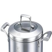 新光 双层 复底 304不锈钢 汤锅 奶锅 煎锅 炖锅 隔热锅XG-0918
