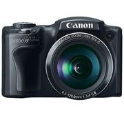 佳能 SX500 IS 数码相机 黑色(1600万像素 3英寸液晶屏 30倍光学变焦 24mm广角)