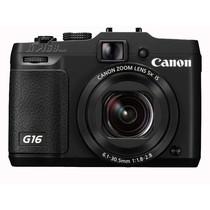 佳能 G16 数码相机 黑色(1210万像素 3英寸液晶屏 5倍光学变焦 28mm广角)产品图片主图