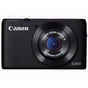佳能 S200 数码相机 黑色(1010万像素 3英寸液晶屏 5倍光学变焦 24mm广角)