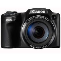 佳能 SX510 HS 数码相机 黑色(1210万像素 3英寸液晶屏 30倍光学变焦 24mm广角)产品图片主图
