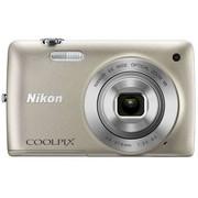 尼康 S4300 数码相机 银色(1602万像素 3英寸液晶触屏 6倍光学变焦 26mm广角)
