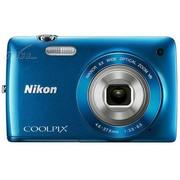 尼康 S4300 数码相机 蓝色(1602万像素 3英寸液晶触屏 6倍光学变焦 26mm广角)