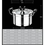 天科 复底汤锅 防烫电木手柄烹饪锅具 不锈钢锅 电磁炉煤气炉通用 双耳锅 18cm