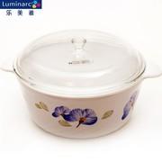 其他 法国进口弓箭乐美雅ARC白色花纹陶瓷玻璃蒸锅煮锅陶瓷汤锅奶锅L15花纹3.8L