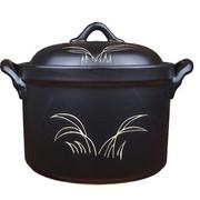 其他 康百佳 7号 2100ml/2.1L 锂瓷煲 花桶锅 砂锅 汤锅 炖锅 煲汤 黑色