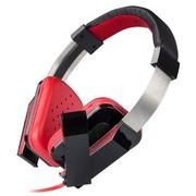 现代 HY-921 多媒体游戏耳机 头戴贴耳式 降噪麦克风 高级金属头带 面条线电脑耳麦耳机 红色