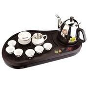 金灶 L-100 微电脑控制J鸡翅木纹泡茶机(茶具) 浅棕色 送精美陶瓷茶具套装