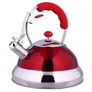 仁品 RENPIN不锈钢烧水壶 鸣音烧水壶响壶 燃气灶电磁炉可用D031 RP-D031红色4L