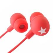 其他 星星耳机(MIX-STYLE)入耳式耳机 白星星款(4色可任意选) 红底