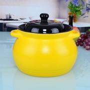 其他 原火4L高耐热陶瓷高锂汤煲 砂锅 陶瓷煲 土锅 无铅 黄色