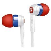 飞利浦 SHE7055RU/00 Indies 狂热系列 抗缠结扁平线缆 入耳式手机耳机 立体声重低音 (塞纳蓝)