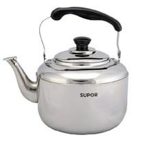 苏泊尔 SUPOR4L时尚鸣音不锈钢水壶SS40Q1 煤气烧水壶产品图片主图