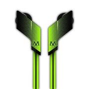 玛雅 E18S 面条入耳式手机耳机 耳塞式重低音 带麦话筒线控电脑耳麦 黄绿色